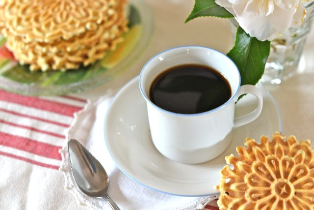 Cup of Coffee with Pizzelles