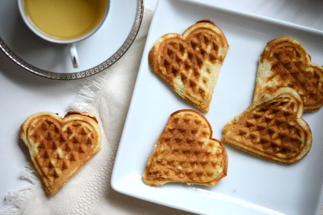 Norwegian Heart Waffles Horizontal