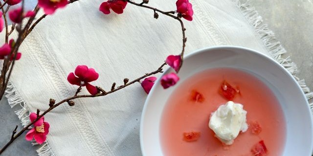 The Essence of Spring in Rhubarb Soup