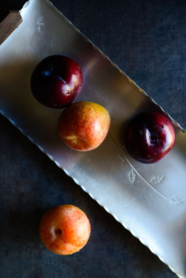 Plums on Norwegian Tray