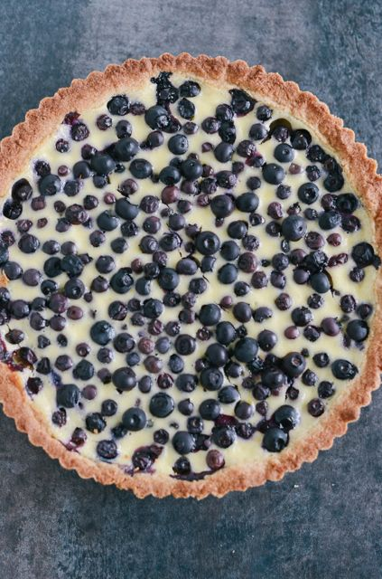 Rye and Blueberry Tart