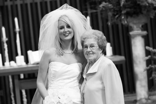 Wedding Day with Grandma