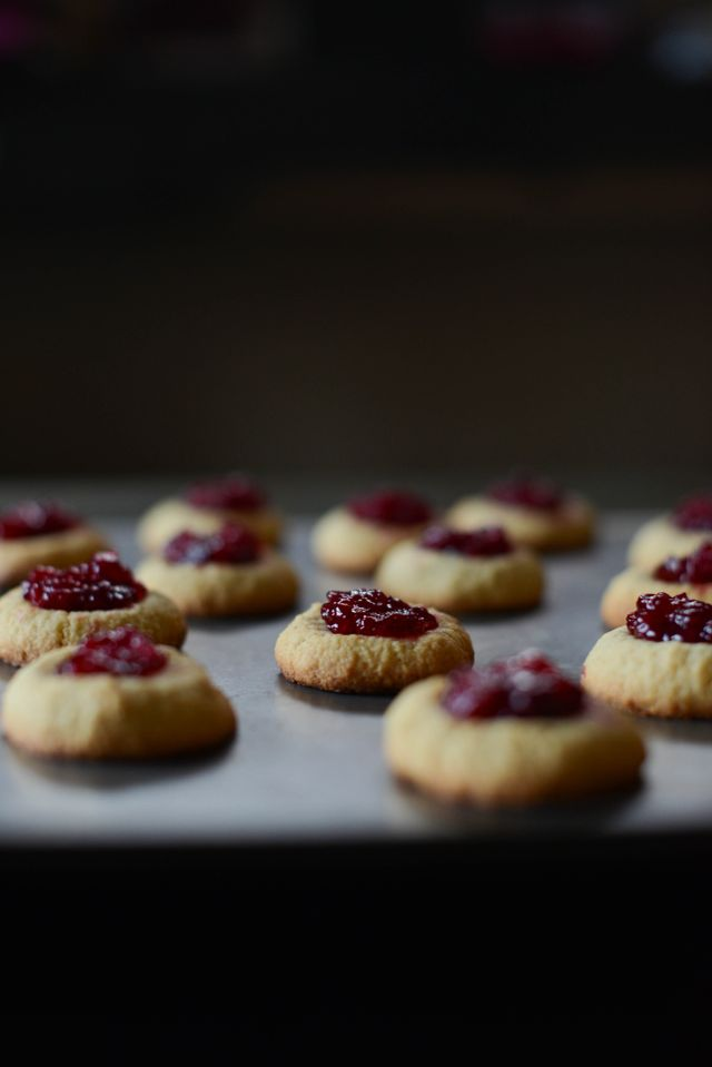 Cardamom Thumbprint Cookies