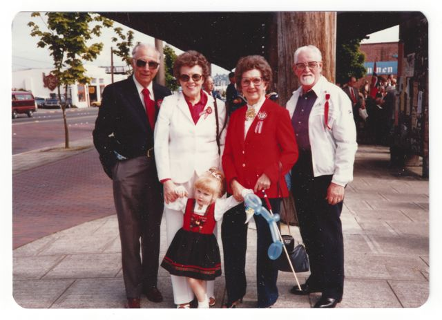 Syttende Mai with Grandparents 1980s
