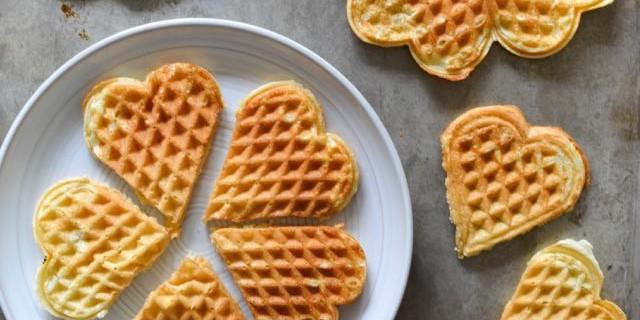 Great-Grandma Josephine's Norwegian Waffles (Vaffler)