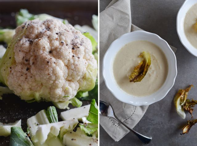 Nordic Cauliflower Soup Diptych