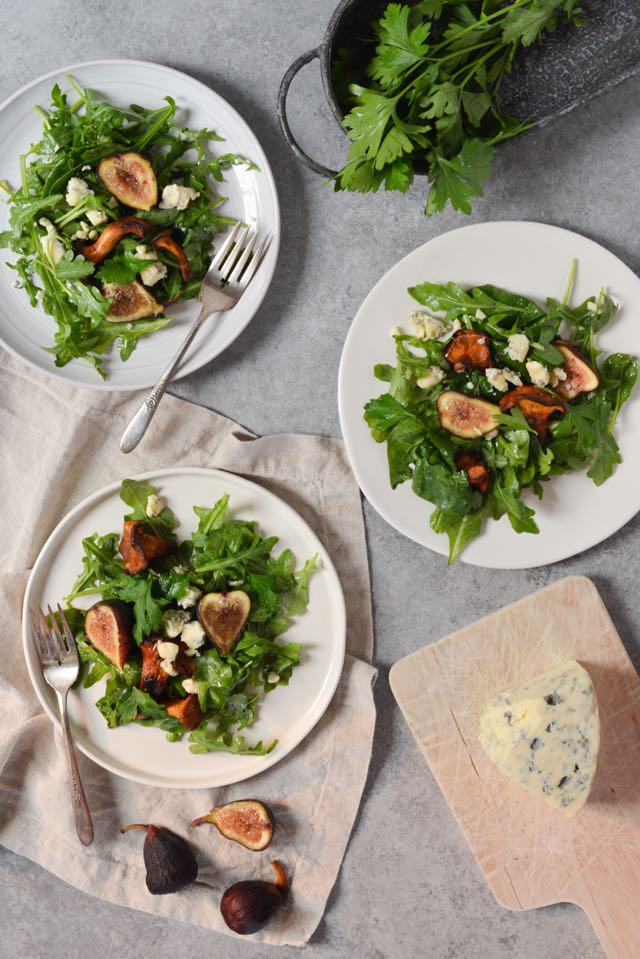 Chanterelle, Fig, and Blue Cheese Salad